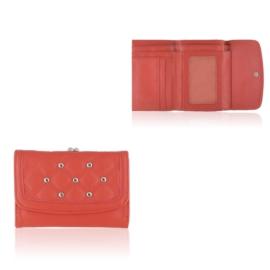Portfel damski z ćwiakami - czerwony - P1189