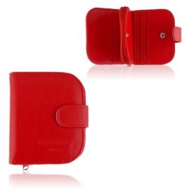 Portmonetka damska Raffaello - czerwona - P1201
