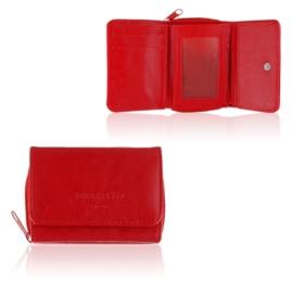 Portmonetka damska Raffaello - czerwona - P1202
