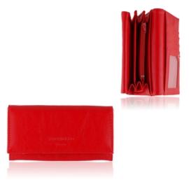 Portfel damski Raffaello - czerwony - P1203