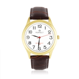 Zegarek męski na skórzanym pasku vintage - Z1345