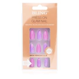 Tipsy paznokcie sztuczne - różowe 24szt PIL100