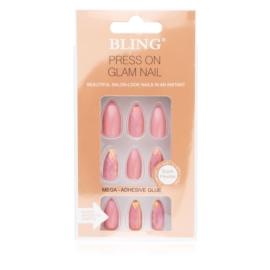 Tipsy paznokcie sztuczne - różowe 24szt PIL101