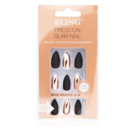 Tipsy paznokcie sztuczne - black 24szt PIL95