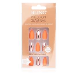 Tipsy paznokcie sztuczne - orange 24szt PIL98