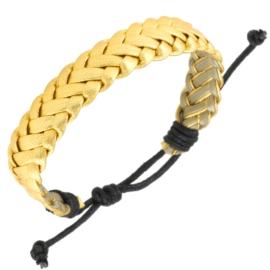 Bransoletka pleciona złota - BRA2504