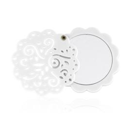Lusterko kieszonkowe białe - MUP176