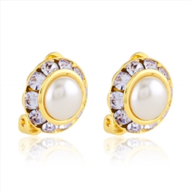 Klipsy czeskie crystal pearl 48/32 RIV16/15 EA2933