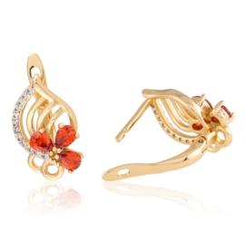 Kolczyki z czerwonymi kryształkami Xuping EAP13165