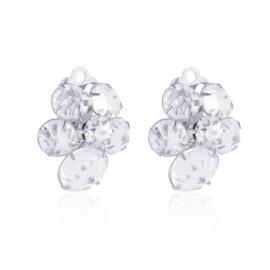 Klipsy kryształy ślubne kwiatki 50/151 EA3024
