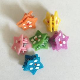 Żabki kolorowe - gwiazdki 6szt - ZW67