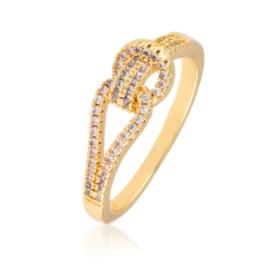 Pierścionek z kryształkami - Xuping PP2636