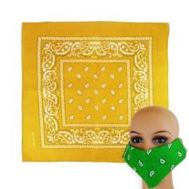 Chustka bandanka 55x55cm - żółta - WO1042