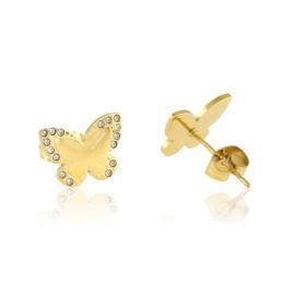 Kolczyki stal motylki - Blueberry EAP13297