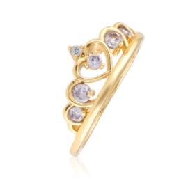 Pierścionek diadem z kryształami - Xuping PP2648