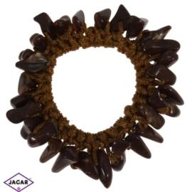Gumka- brązowa z kamieniami - OG606