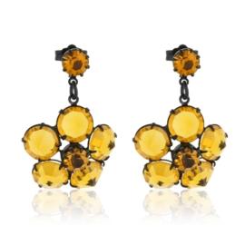 Kolczyki wiszące kwiat kryształ orange 51/1 EA3151