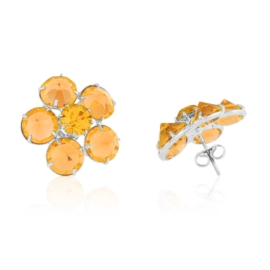 Kolczyki czeskie kryształy kwiat 53/195 EA3153