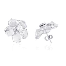 Kolczyki czeskie kryształy ślubne 53/195 EA3155