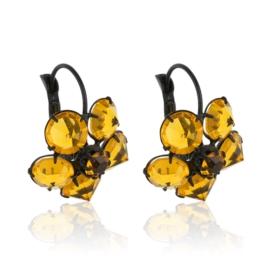 Kolczyki czeskie kryształy kwiat 63/55 EA3156