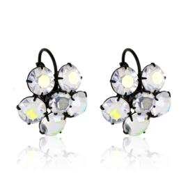 Kolczyki czeskie kryształy kwiat 63/55 EA3157