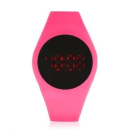Zegarek silikonowy LED - różowy - Z1497