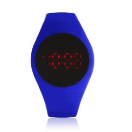 Zegarek silikonowy LED - kobaltowy - Z1498
