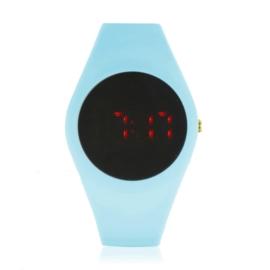Zegarek silikonowy LED - błękitny - Z1500