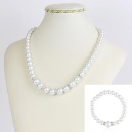 Komplet biżuterii z perełami - KOM209