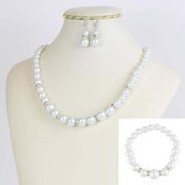 Komplet biżuterii z perełami - KOM211