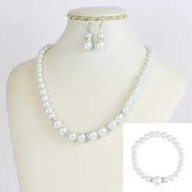 Komplet biżuterii z perełami - KOM212