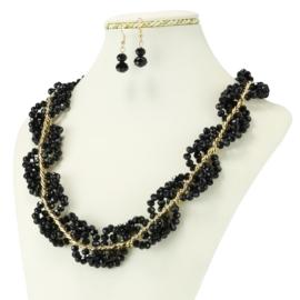 Komplet biżuterii - Naszyjnik i Kolczyki - KOM226