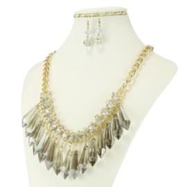 Komplet biżuterii - Naszyjnik i Kolczyki - KOM227