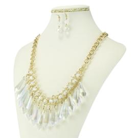 Komplet biżuterii - Naszyjnik i Kolczyki - KOM228