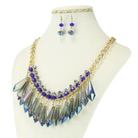 Komplet biżuterii - Naszyjnik i Kolczyki - KOM229