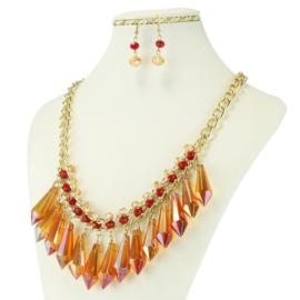 Komplet biżuterii - Naszyjnik i kolczyki - KOM230