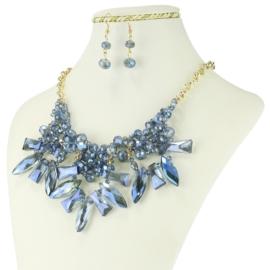 Komplet biżuterii - Naszyjnik i Kolczyki - KOM231