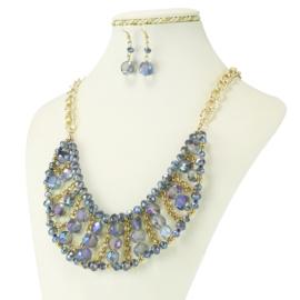 Komplet biżuterii - Naszyjnik i Kolczyki - KOM232
