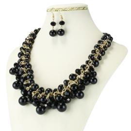 Komplet biżuterii - Naszyjnik i Kolczyki - KOM233