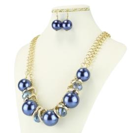 Komplet biżuterii - Naszyjnik i Kolczyki - KOM234