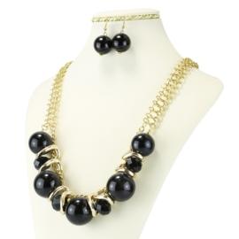 Komplet biżuterii - Naszyjnik i Kolczyki - KOM236