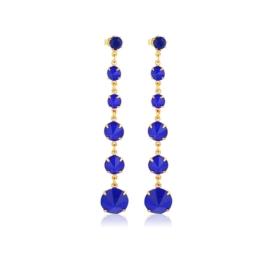 Kolczyki czeskie kryształy niebieski 53/193 EA3196