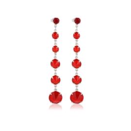 Kolczyki czeskie kryształy czerwony 53/193 EA3198