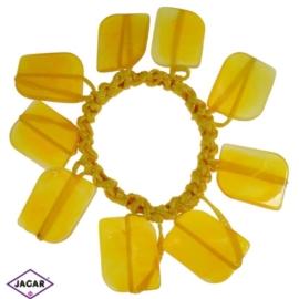 Gumka- zółta z ozdobami - OG645