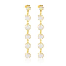 Kolczyki wiszące kryształy opal 53/157 EA3234