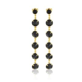 Kolczyki wiszące kryształy black 53/157 EA3235