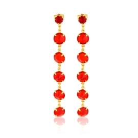 Kolczyki wiszące kryształy czerwień 53/157 EA3239