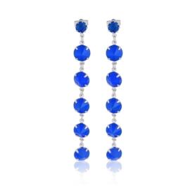 Kolczyki wiszące kryształy niebieski 53/157 EA3240