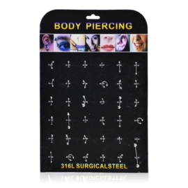 Body Piercing - 36szt - PRC49