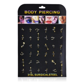 Body Piercing - 36szt - PRC51